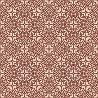 roze met kastanjebruine details geometrisch patroon vector