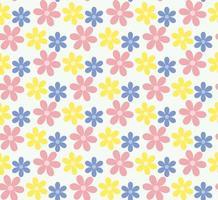 naadloze pastel bloemenpatroon