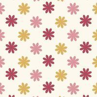 naadloos rood en roze bloemenpatroon vector