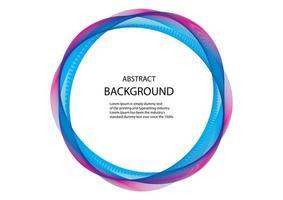 roze en blauwe cirkel abstracte lijnen op wit vector