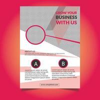 roze sjabloon folder met meerdere vormen vector