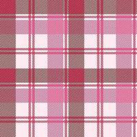 naadloze geruite patroon in pastel roze vector