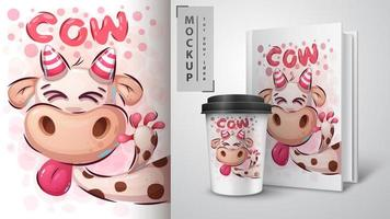 gekke koe poster en merchandising