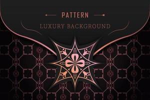 luxe patroon decoratief rose goud ontwerp vector