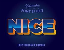 mooie tekst, glanzend bewerkbaar lettertype-effect