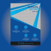 blauwe diagonale lijn jaarverslag sjabloonontwerp