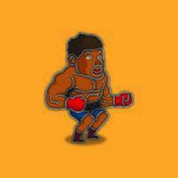 Afro-Amerikaanse bokser