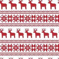 naadloze Noordse Kerst patroon. vector