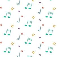 patroon met muziek notities