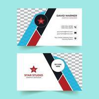 eenvoudige zakelijke moderne visitekaartjesjabloon