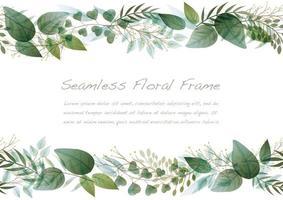 aquarel naadloze groene botanische frame