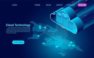 cloud data-opslag met dataverwerking