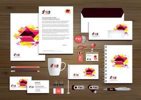 sjabloon zakelijke zakelijke identiteit ontwerp vector