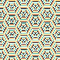 geometrische zeshoek patroon achtergrond vector