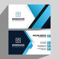 blauw en zwart hoeken creatief visitekaartje