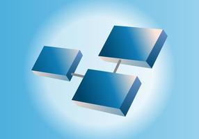 3D Vector-logo vector