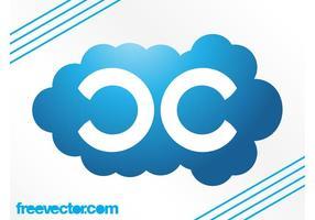 Cloud logo sjabloon