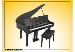 Vectorillustratie van de Grand Piano vector