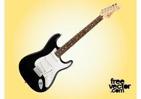Zwarte Fender Gitaar Vector