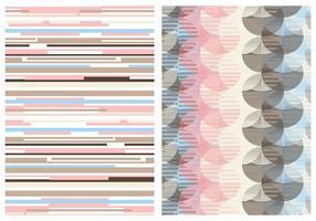 Retro Abstracte Pastel Vector Achtergrond