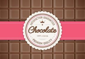 Bar van Chocolade Achtergrond Vector