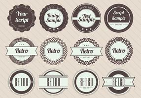 Retro Badge Vectoren