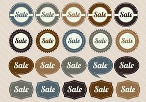 Retro verkoop badge vectoren