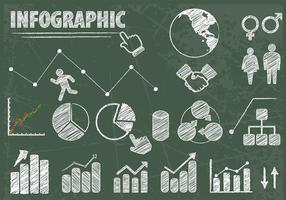 Chalk Drawn Infographic Elements Vector Set