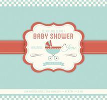 Baby Shower Vector Uitnodiging Sjabloon