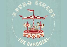 Retro Circus Carrousel Achtergrond Vector