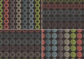 Abstracte naadloze vector patronen
