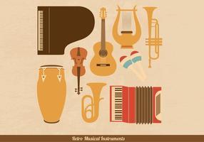Retro Muziekinstrumenten Vectoren
