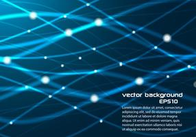 Blauwe Gloeiende Lijnen Achtergrond Vector