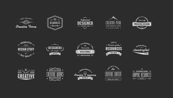 Vintage logo vector pack