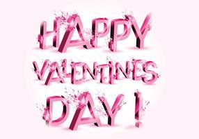 3D-explosie Valentijnsdag Vector