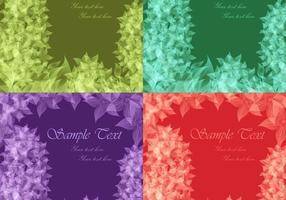 Translucent Floral Backgrounds Vector
