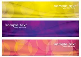 Kleurrijke Abstracte Banners PSD Set Drie vector