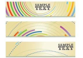 Kleurrijke Abstracte Lijnen Banner Vector Set