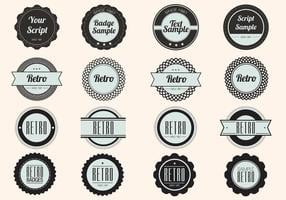 Zwarte retro label badge vectoren