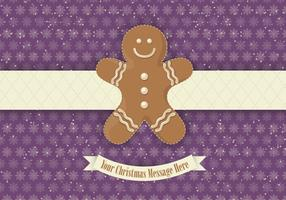 Purple Gingerbread Vector Background