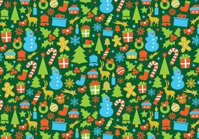 Retro Kerstmis Vector Patroon