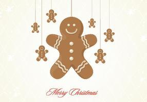 Gingerbread Koekje Kerstmis Vector Achtergrond