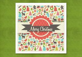 Retro Kerstmis Achtergrond Vector
