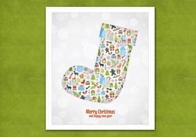 Bokeh Christmas Stocking Vector Background