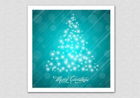 Glowing Bokeh Christmas Tree Vector Background