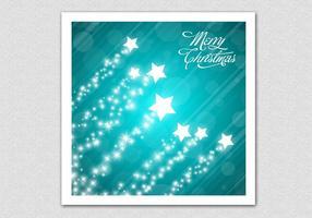 Teal Merry Christmas Star Vector Achtergrond