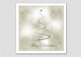 Bokeh Merry Christmas Vector Achtergrond