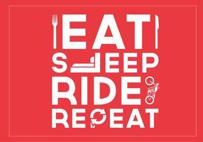 Eat Sleep Ride Repeat Vector Background