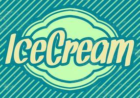 Striped Ice Cream Vector Background