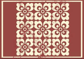 Grungy Floral Ornament Vector Pattern